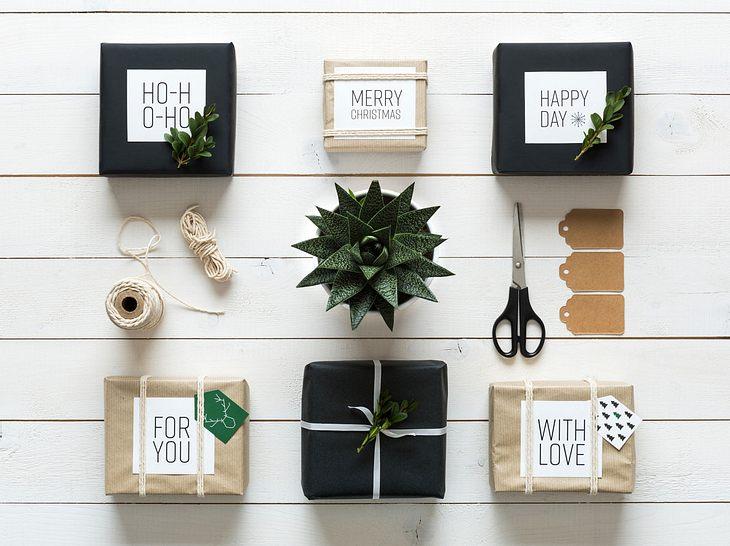 Klare Linien für moderne Geschenkanhänger