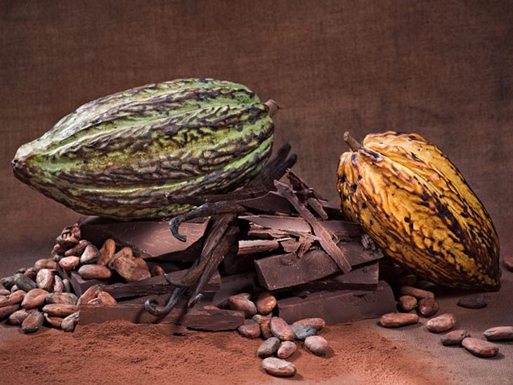 In Kakaobohnen sind wertvolle Pflanzenstoffe wie etwa Flavonoide enthalten, deren Anteil bei Zartbitterschokolade besonders hoch ist.
