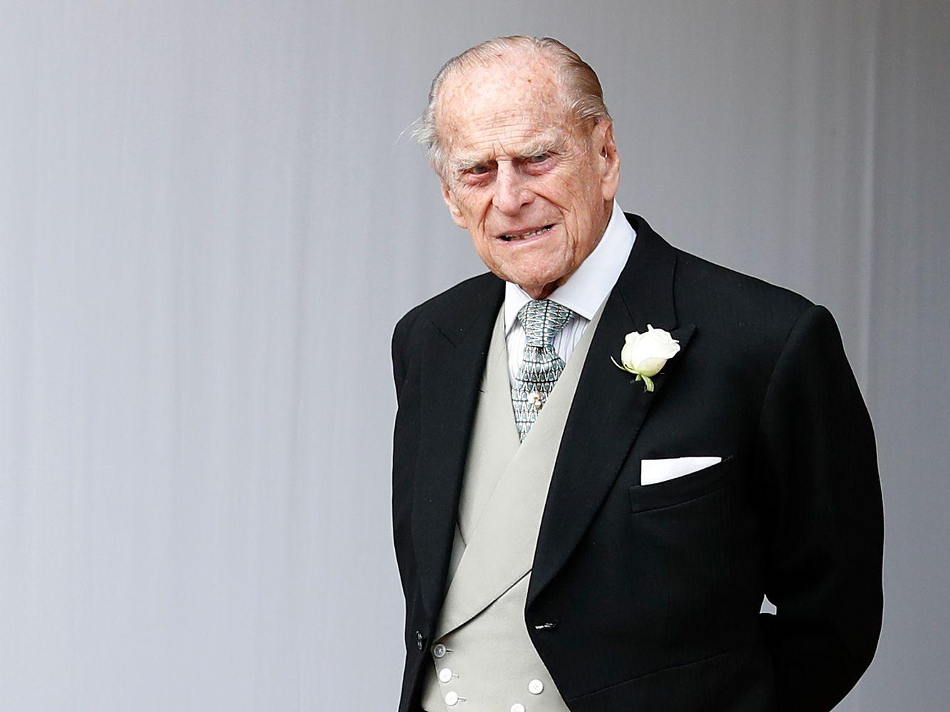 Der Herzog of Edinburgh  auf der Hochzeit seiner Enkeltochter Prinzessin Eugenie.