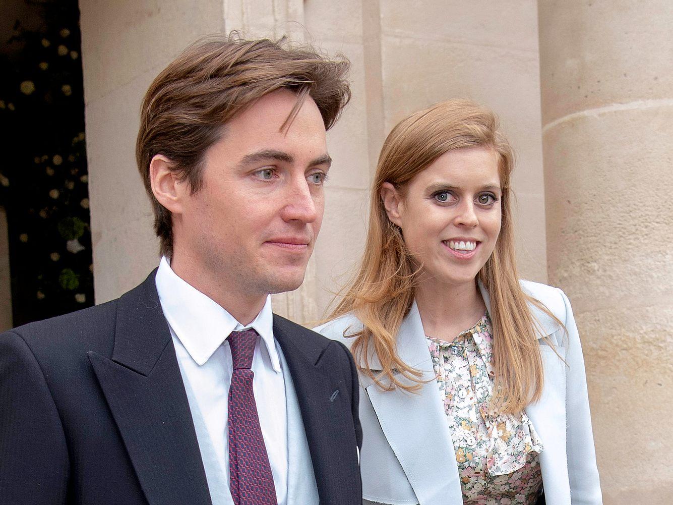 Prinzessin Beatrice und ihr Ehemann Edoardo Mapelli Mozzi bei der Hochzeit von Jean-Christophe Napoleon.