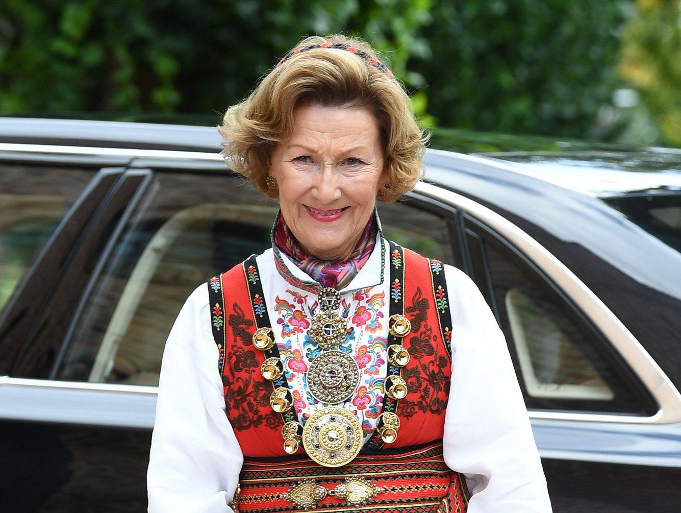 Königin Sonja an der Konfirmation von Prinz Sverre Magnus.