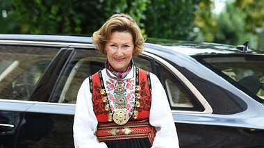 Königin Sonja an der Konfirmation von Prinz Sverre Magnus. - Foto:  Rune Hellestad/GettyImages