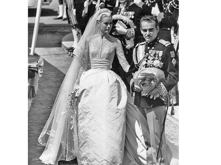 Grace Kelly bei ihrer Hochzeit mit Fürst Rainier III. von Monaco.