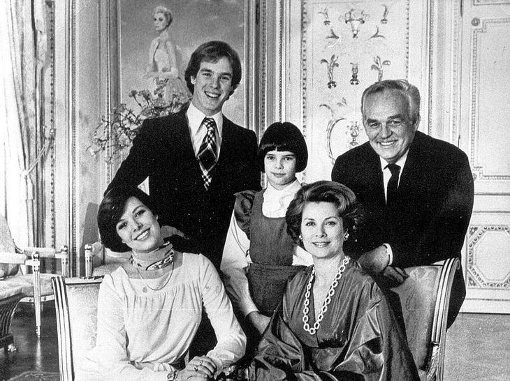 Prinzessin Caroline, Prinz Albert, Prinzessin Stéphanie, Fürstin Gracia Patricia und Fürst Rainier.