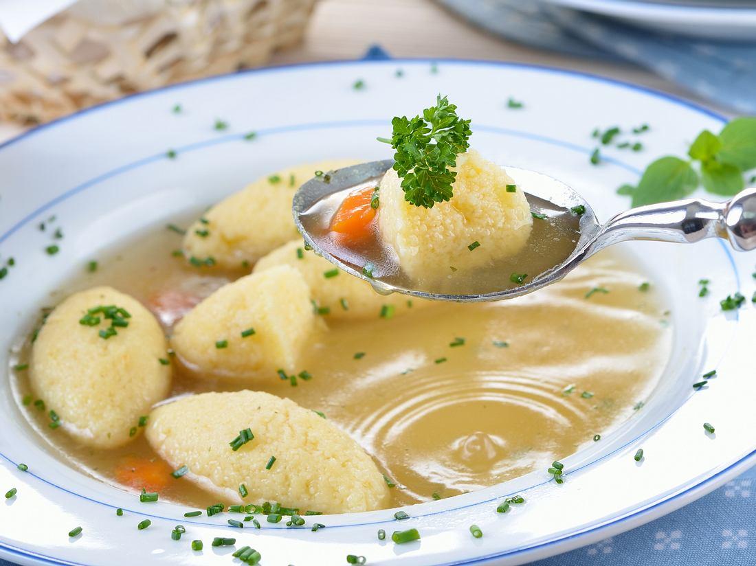 Grießklößchensuppe.