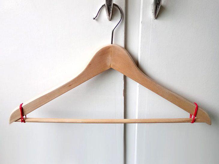 So nützlich sind Gummibänder für Kleiderbügel.