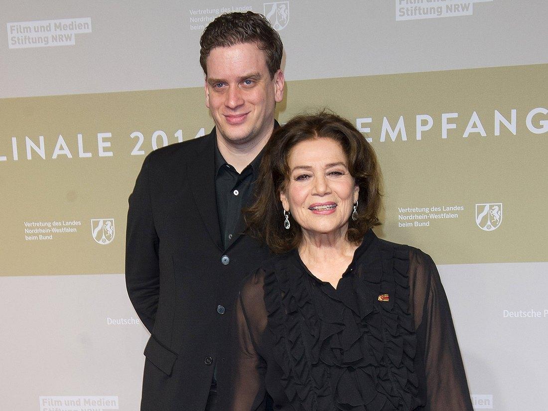 Hannelore Elsner mit ihrem Sohn Dominik.