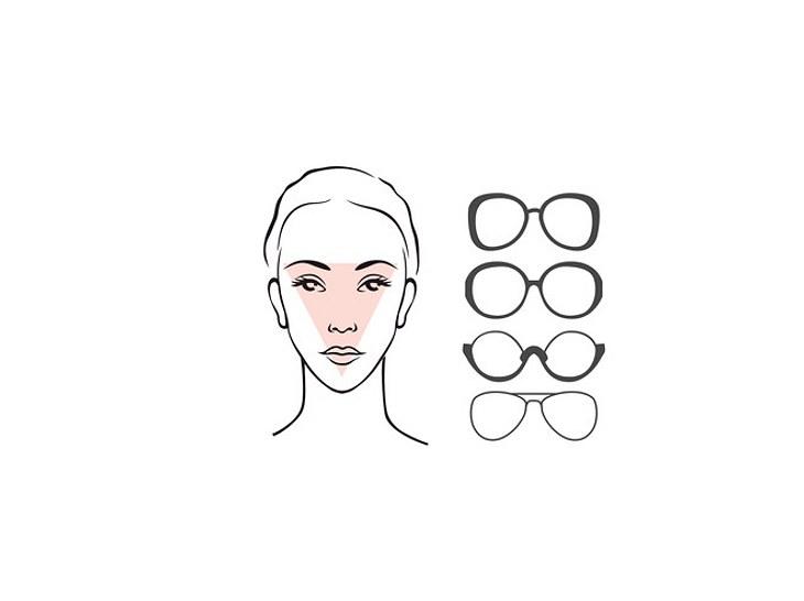 Ein herzförmiges Gesicht sollte auf ovale Formen setzen.
