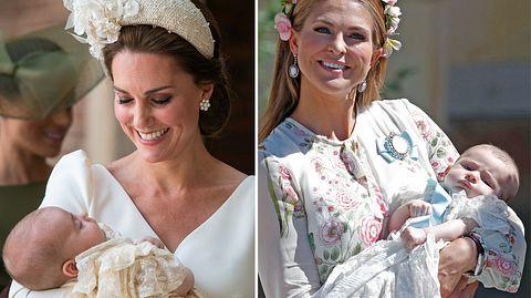 Nicht nur Herzogin Kate und Prinzessin Madeleine haben 2018 ein Baby bekommen. - Foto: Dominic Lipinski - WPA Pool/Getty Images, MICHAEL CAMPANELLA/WireImage/Getty Images