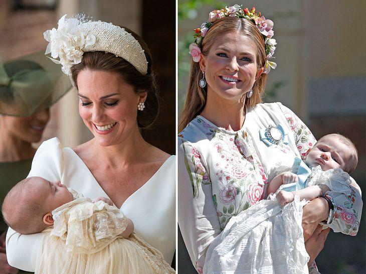 Nicht nur Herzogin Kate und Prinzessin Madeleine haben 2018 ein Baby bekommen.