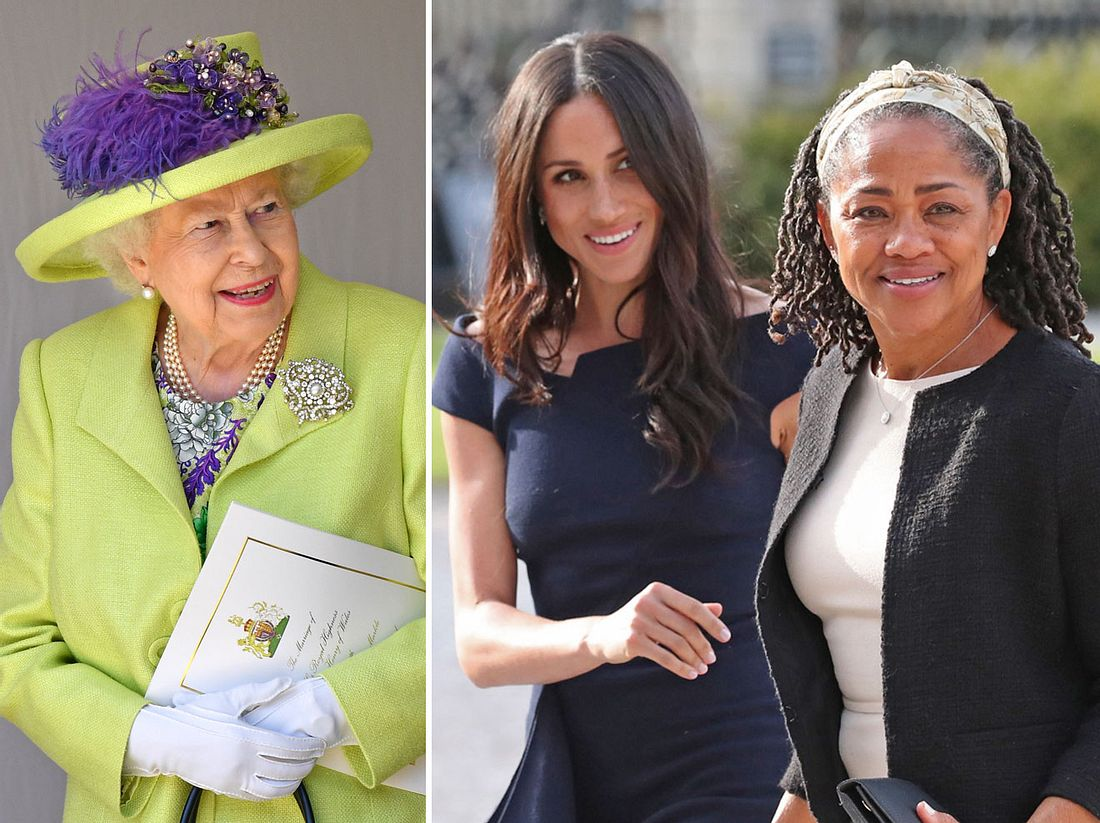 Queen Elizabeth II., Herzogin Meghan und deren Mutter Doria Ragland dürfen offenbar zusammen Weihnachten feiern.