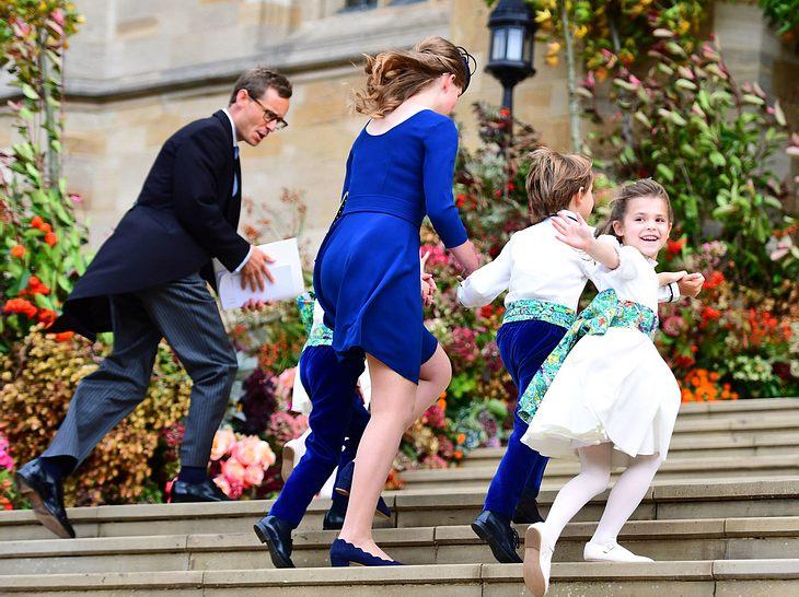 Hochzeit von Eugenie: Die Blumenkinder auf dem Weg in die Kirche