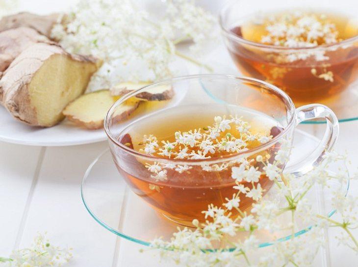 Holunderblüten und Ingwer: Leckere Gesund-Kombi als Heißgetränk