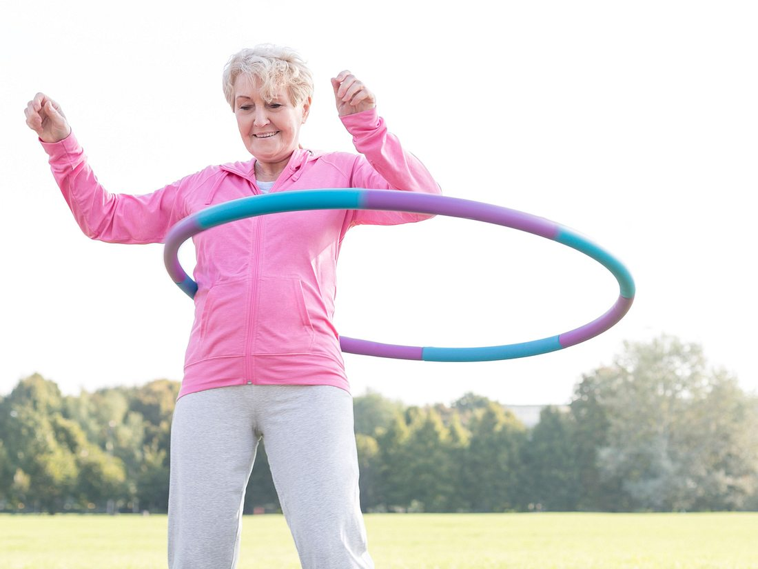 Hula-Hoop für Anfänger.