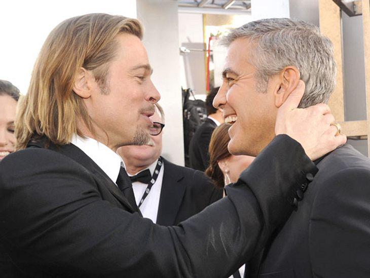 Brad Pitt: Scheidung gibt Freundschaft mit Clooney zweite Chance