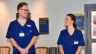 Prinzessin Sofia arbeitet im Krankenhaus