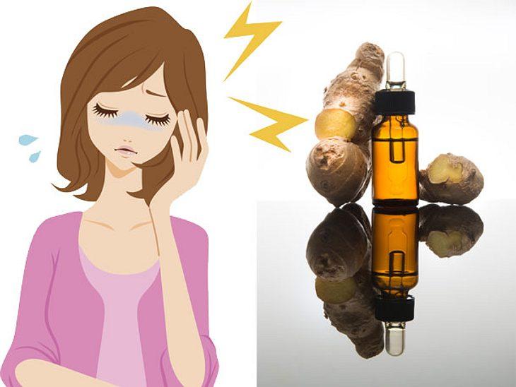 Ingwer gegen Migräneattacken: Akute Hilfe