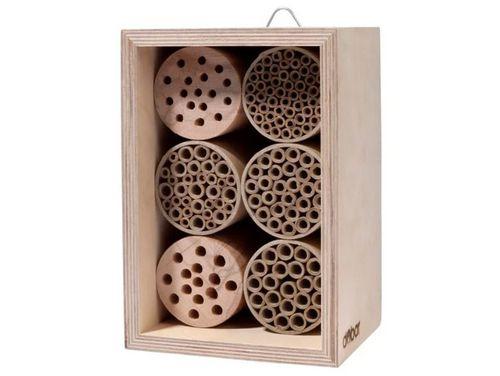Insektenhotel mit 6 Füllungen, stabile Konstruktion, mit Haken