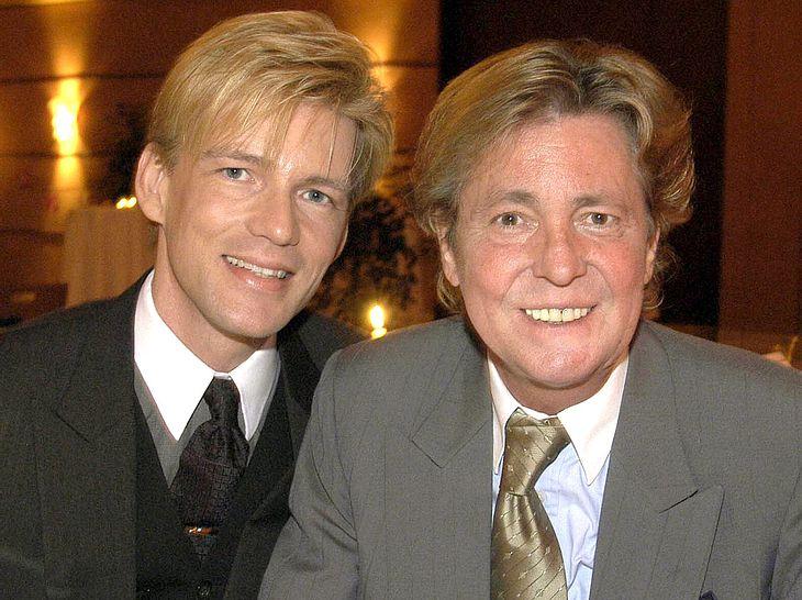 Sänger Jürgen Marcus mit seinem Partner und Manager Nikolaus Fischer.