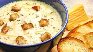 Rezept für Käsesuppe.