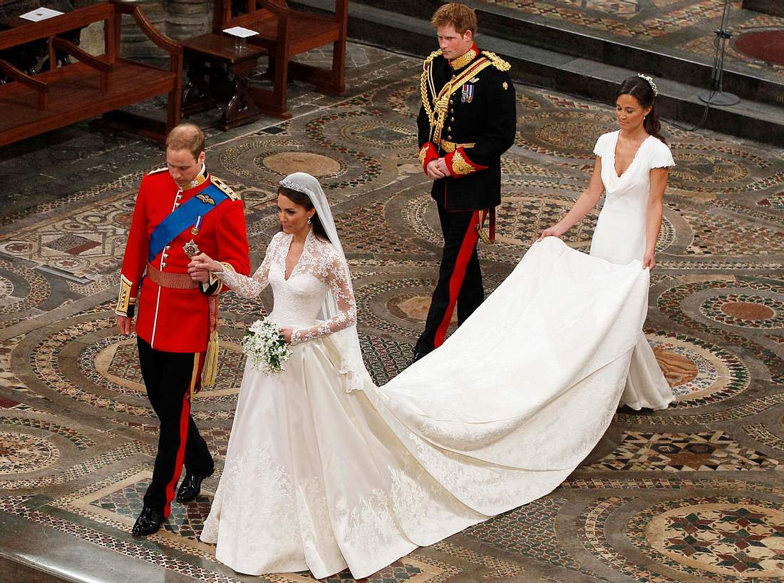 Das Brautkleid von Kate Middleton.