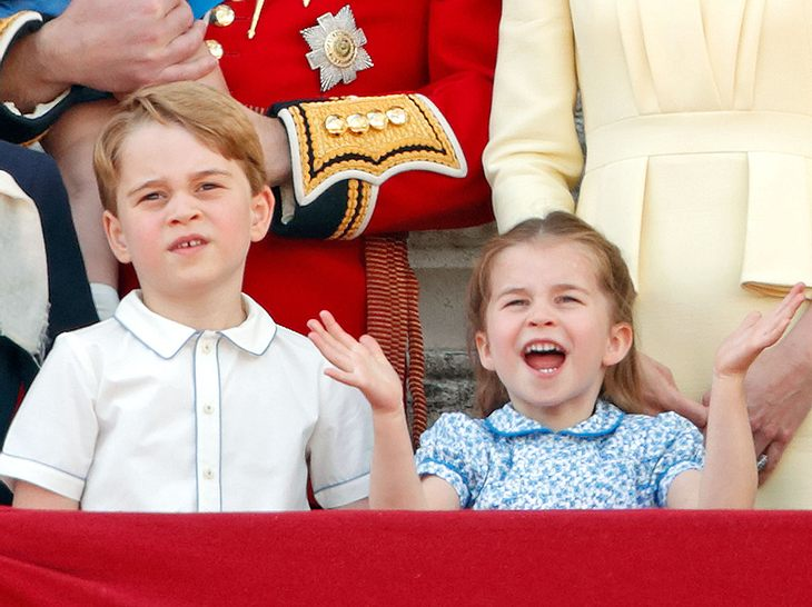 Prinz George und Prinzessin Charlotte bei Trooping the Colour 2019.