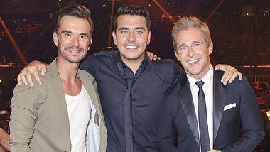Florian Silbereisen, Jan Smit und Christoff feiern als Klubbb3 große Erfolge. - Foto: Tristar Media / WireImage