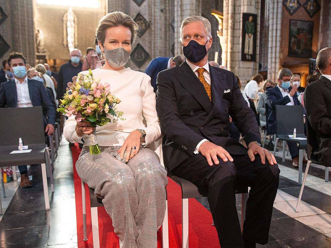 Königin Mathilde und König Philippe im September 2020.