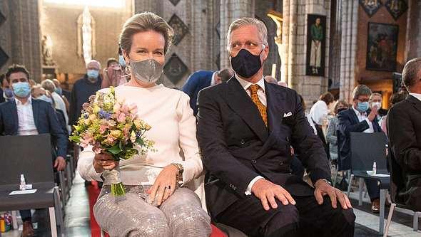 Belgisches Königspaar: Mathilde und Philippe. - Foto: GettyImages/ JAMES ARTHUR GEKIERE