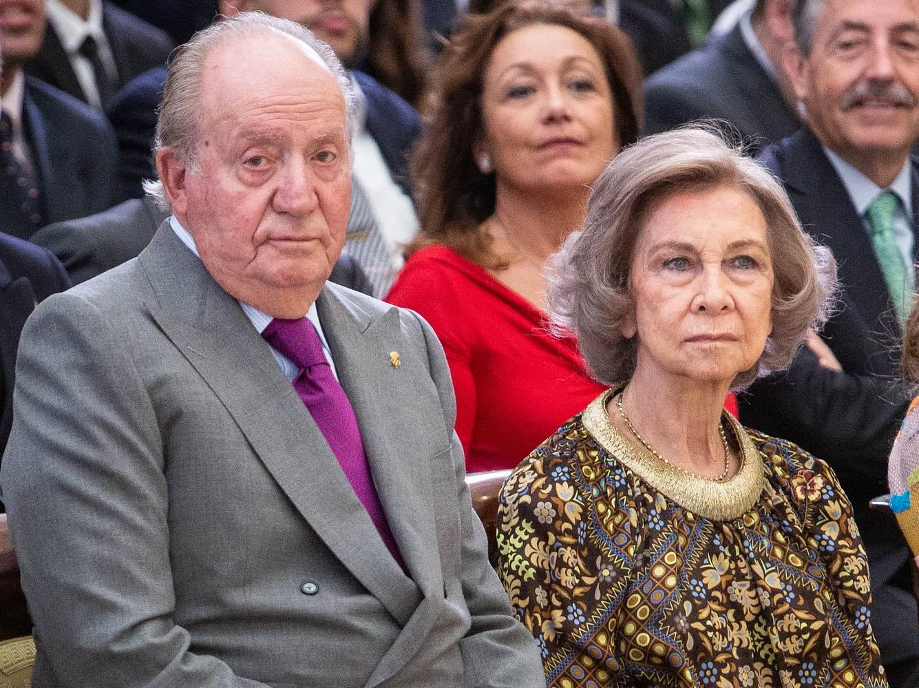 Königin Sofia und König Juan Carlos bei der Verleihung des Nationalen Sportawards 2017.