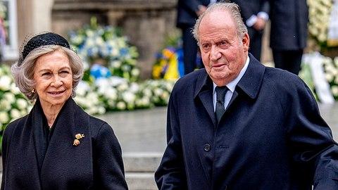 Die emeritierten spanischen Monarchen Sofia und Juan Carlos in Luxemburg 2019. - Foto:  Patrick van Katwijk/Getty Images