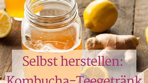 Kombucha-Rezept mit Ingwer