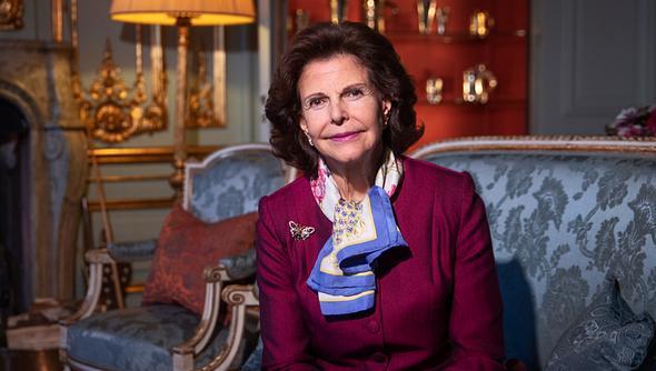 Königin Silvia von Schweden posiert für ein Fotoshooting mit der Göteborgs-Posten Zeitung. - Foto:  Nils Petter Nilsson/GettyImages