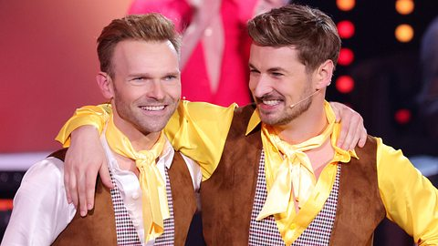 Tanz-Duo Vadim Garbuzov und Nicolas Puschmann.  - Foto:  Andreas Rentz / Staff / Getty Images
