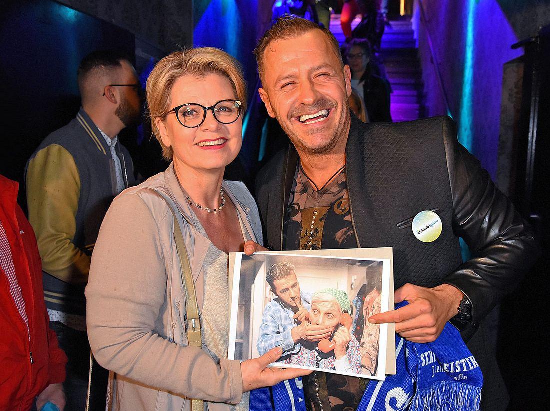 Bekannte aus alten Lindenstraße-Zeiten: Andrea Spatzek und Willi Herren.