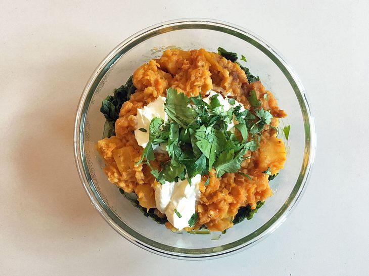 Ingwer-Linsen-Curry mit Butternut-Kürbis
