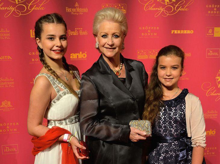 Marika Kilius mit ihren Enkeltöchtern Lola und Lilly