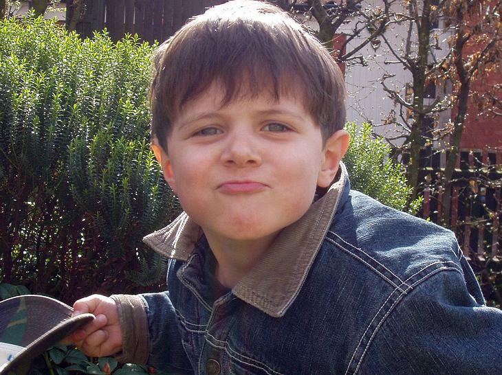 Lukas Rieger als kleiner Junge