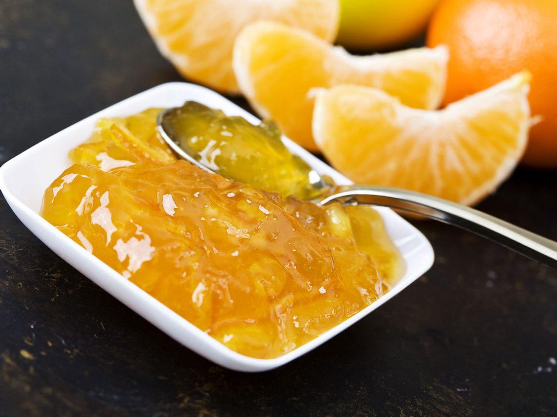 Selbstgemachte Mandarinenmarmelade nach Omas Rezept.