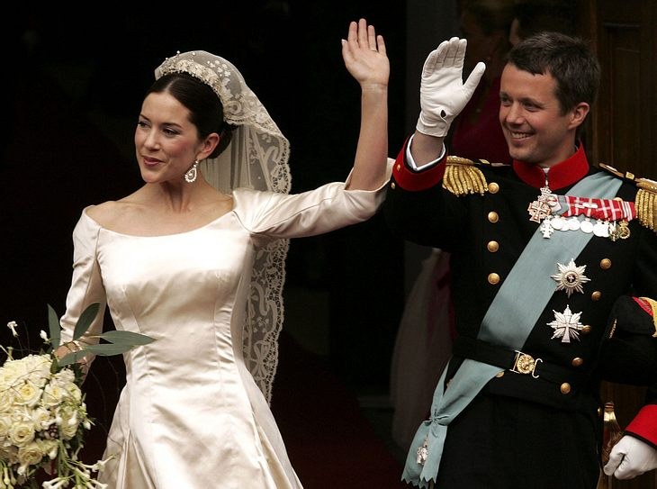 Das Brautkleid von Mary zu Dänemark.