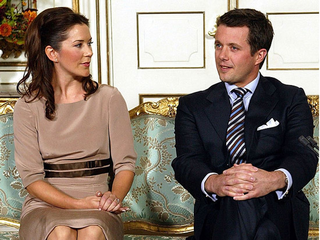 Mary und Frederik von Dänemark bei ihrer Verlobung.