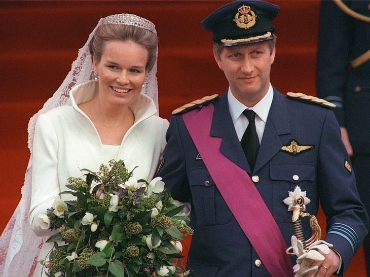 Vor 20 Jahren heiratete Kronprinz Philippe von Belgien seine große Liebe Mathilde.