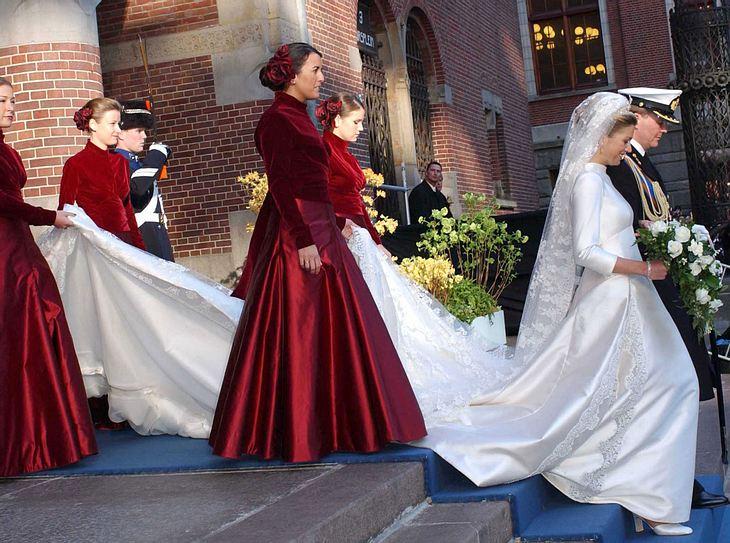 Das Brautkleid von Máxima der Niederlande.