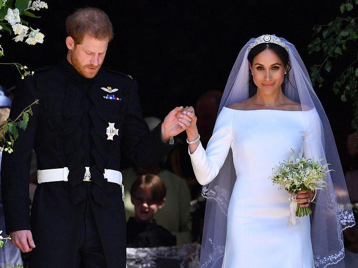 Meghan Markle plaudert Geheimnis über ihr Hochzeitskleid aus
