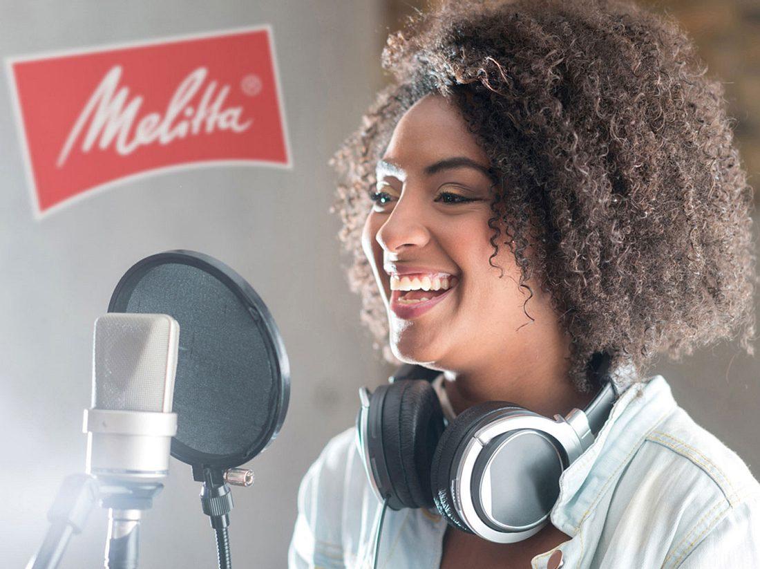Gewinne einen Tag im Tonstudio inklusive Vocal Coach & Jahresvorrat Melitta Kaffee