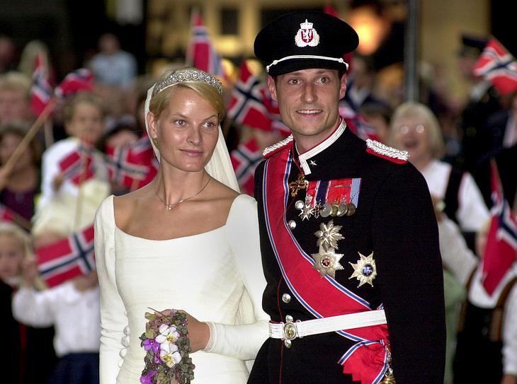 Das Brautkleid von Mette-Marit von Norwegen.