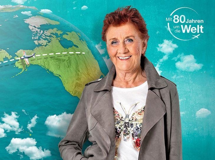 Seniorin Marianne möchte sich bei Mit 80 Jahren um die Welt einen Herzenswunsch erfüllen.