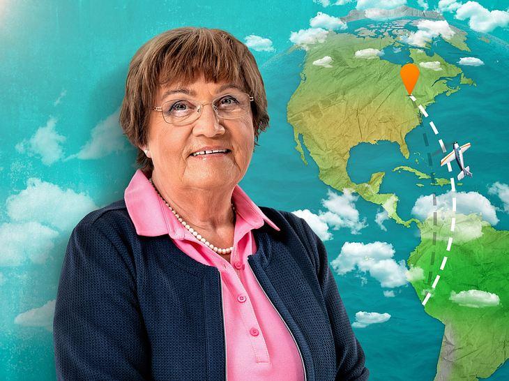 Seniorin Ruth möchte sich durch Mit 80 Jahren um die Welt einen Herzenswunsch erfüllen.
