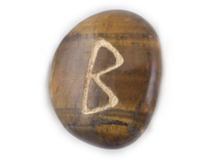 Die Namensrune Berkano mit dem Zahlenwert 18.