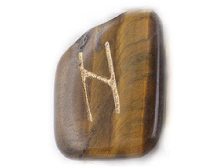 Die Namensrune Hagalaz mit dem Zahlenwert 9.
